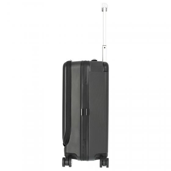#MY4810 4-Rollen-Kabinentrolley mit Vortasche S 55/23 cm black