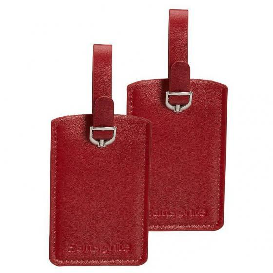 Luggage Accessoire Rectangular Luggage Tag X2 red