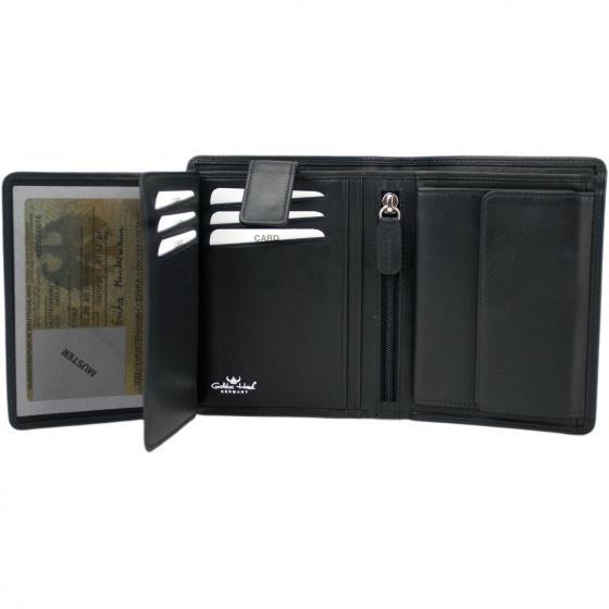 Polo RFID Kombischeintasche 12,5 cm schwarz