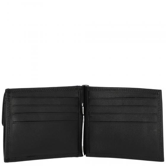 Polo RFID Geldbörse mit Geldscheinklammer 11cm schwarz