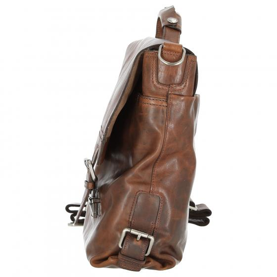 Saddle Aktentasche L 38 cm dunkelbraun