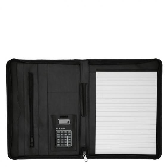 Schreibmappe A4 aus Rindleder Nappa 35.5 cm schwarz