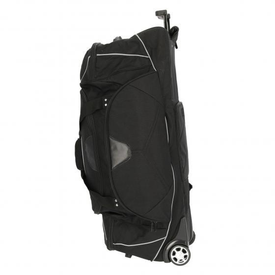 Rollenreisetasche Nylon mit Rucksackfunktion 95 cm schwarz