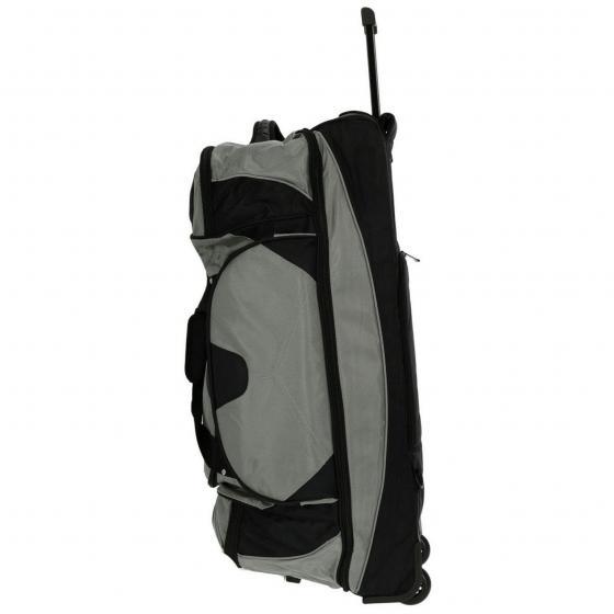 Rollenreisetasche Nylon mit Rucksackfunktion 88 cm grau