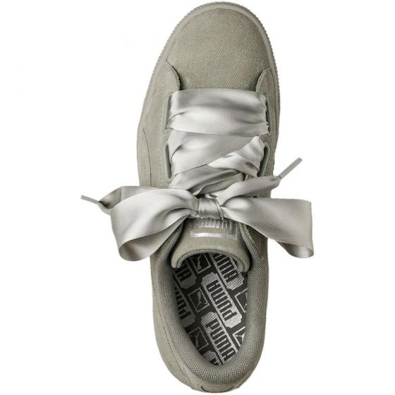 W Suede Heart Pebble Sneaker Schuh 365210 39 | grey grey