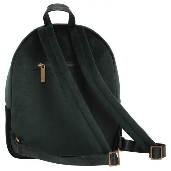 Barbara Velvet Backpack 31 cm forest green