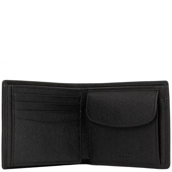 Signature Geldbörse Leder 12 cm black