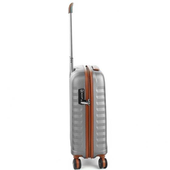E-Lite 4-Rollen-Kabinentrolley 55 cm cognac/titanio
