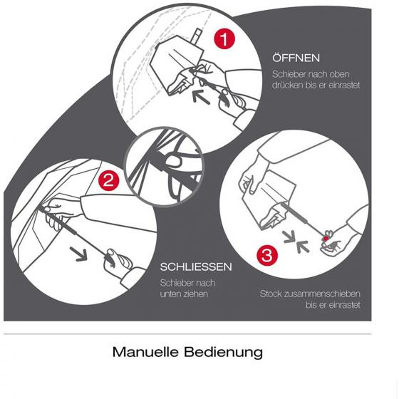 T.010 small Manual Taschenschirm / Regenschirm taupe