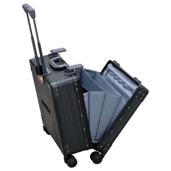 "Aluminium 2-Rollen-Businesstrolley Luxux 15"" 44.5 cm onyx"