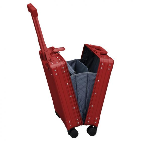 "Aluminium 2-Rollen-Businesstrolley Vertikal 15"" 49.5 cm ruby"