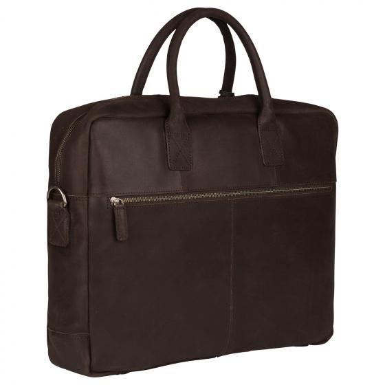 Vintage Max Worker Laptoptasche 17.3'' 44 cm dark brown