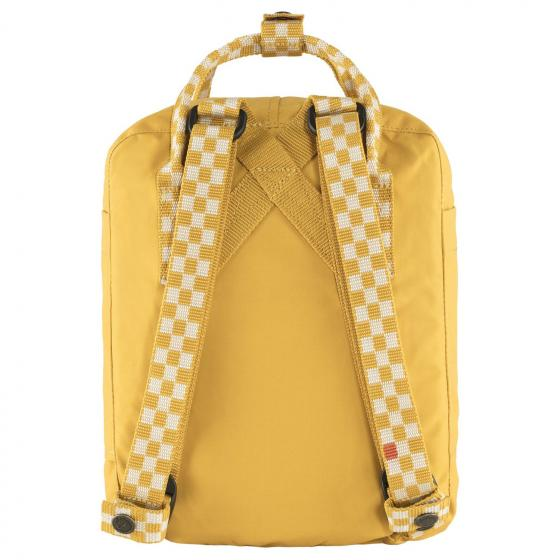 Kanken Mini Rucksack 29 cm ochre-chess pattern
