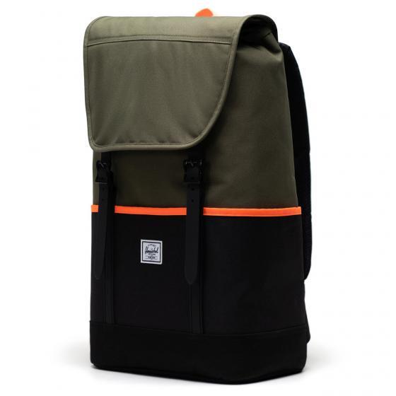 Retreat Pro Rucksack ivy green/black/shocking orange