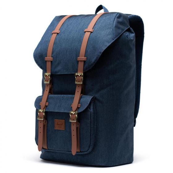 Little America Backpack 25 l 49.5 cm indigo denim crosshatch