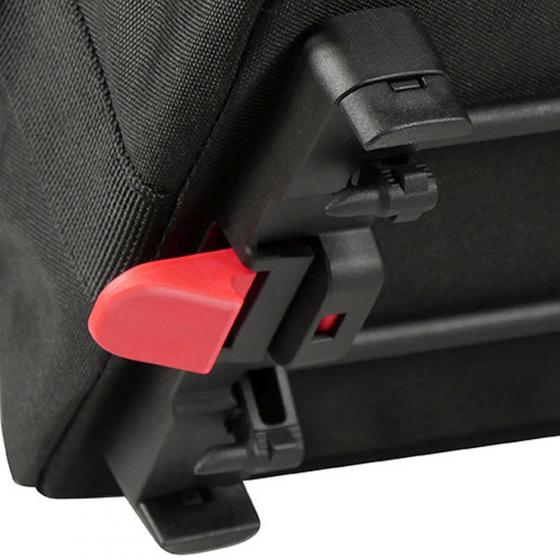 Rixen & Kaul Rackpack 1 Plus Gepäckträgertasche (inkl. KLICKfix Bodenkupplung für Racktime Gepäckträger) black