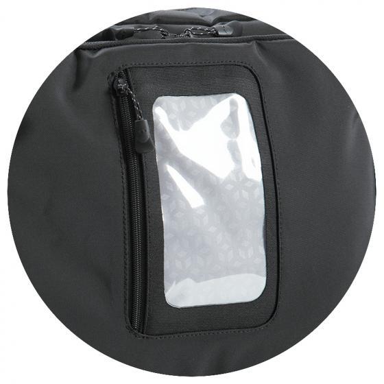 Melfort City Fahrradtasche inkl. KLICKfix Vario E Haken 35 cm black