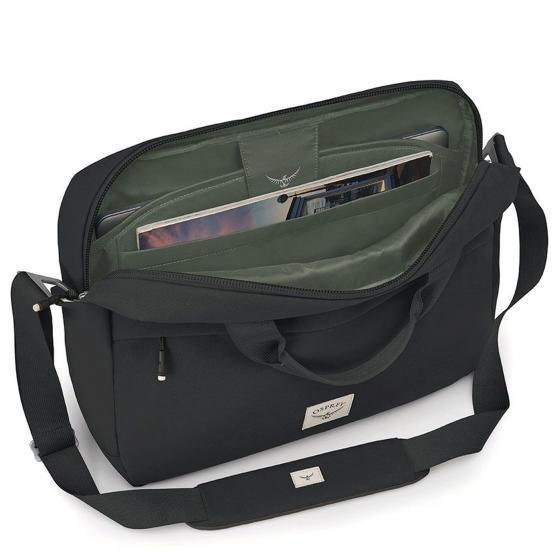Arcane Brief Laptoptasche 100 % recycelt 41 cm stonewash black