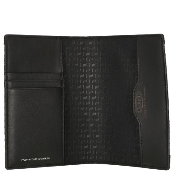 Carbon Passport Holder 14 cm black