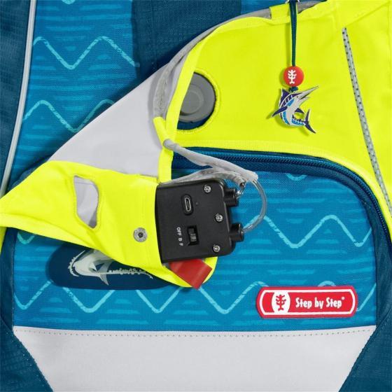 LED Neon Pull-Over für das Schulranzenmodell 2in1 Plus grün
