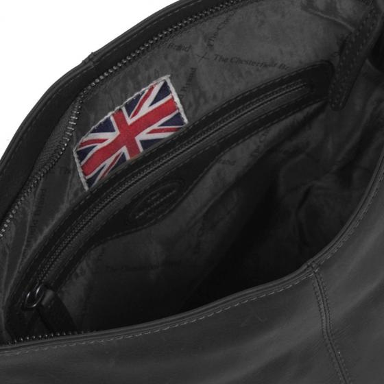 Jen Schultertasche Leder 25 cm black