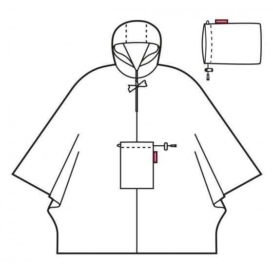travelling mini maxi poncho / Regencape 141 cm mixed dots