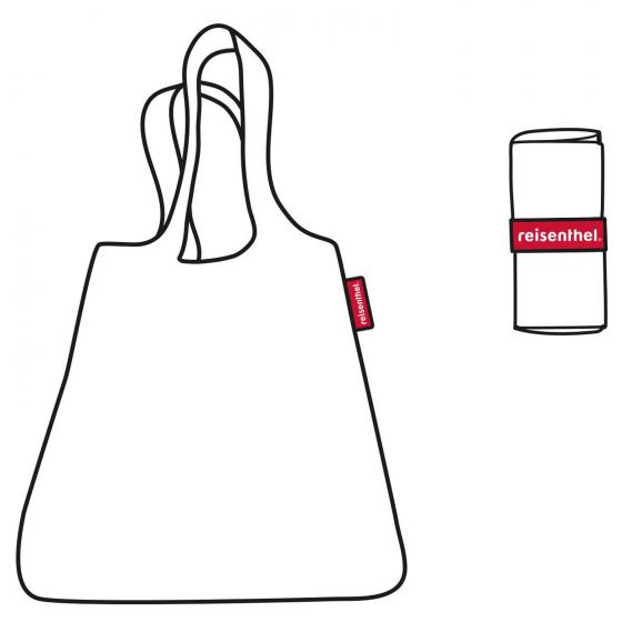shopping mini maxi shopper / Einkaufsshopper faltbar 60 cm glencheck red