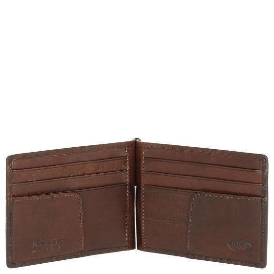 Monte Rosa Kreditkartenbörse mit Geldscheinklammer 12 cm RFID brown