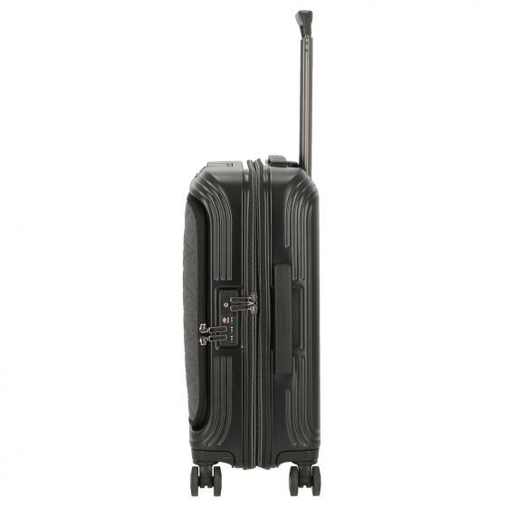 PiQBiz Design 4-Rollen-Kabinentrolley S mit Laptopfach und USB 55 cm black