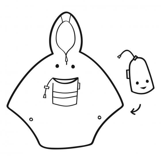 kids collection mini maxi poncho / Kinder-Regencape 93 cm abc friends pink