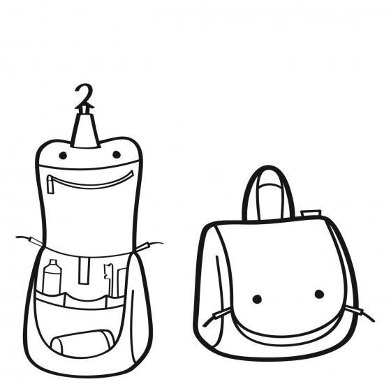 toiletbag S / Kulturbeutel 18,5 cm leo