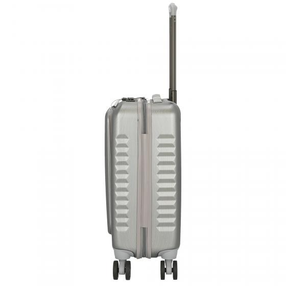 Fly 4-Rollen-Kabinentrolley Business 55 cm silver brushed