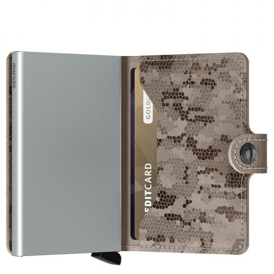 Crisple Miniwallet Börse mit RFID Schutz 6.5 cm taupe camo