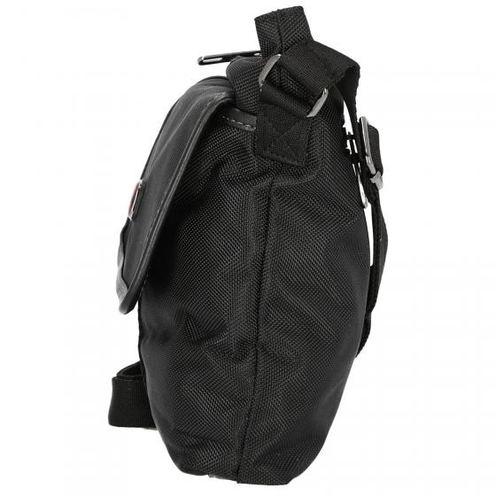 Schultertasche mittelgroß 25 cm black