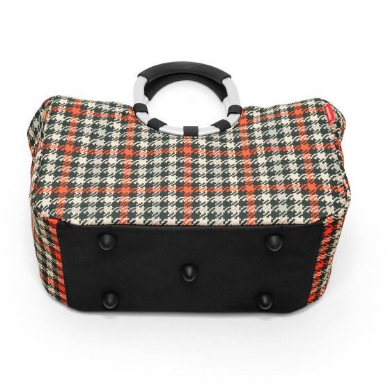shopping loopshopper M / Einkaufstasche mit Bügel 40 cm glencheck red