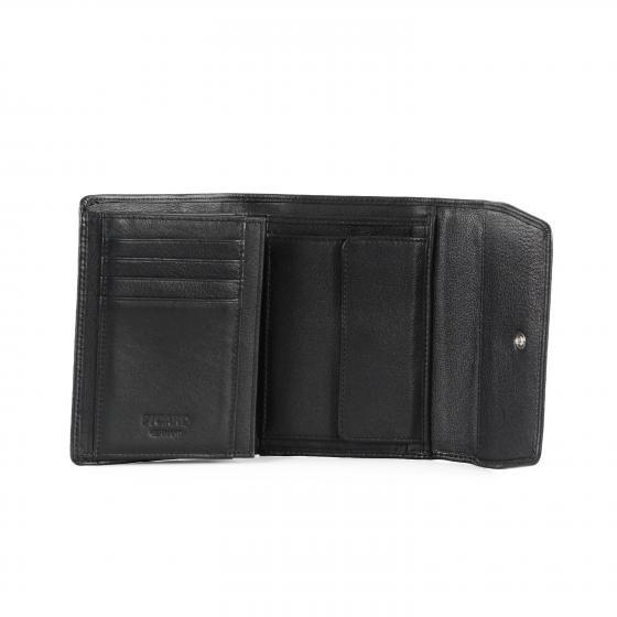 Bingo Damen Portmonaie Leder 12,5 cm schwarz