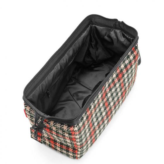 travelling travelcosmetic XL / Kulturbeutel glencheck red