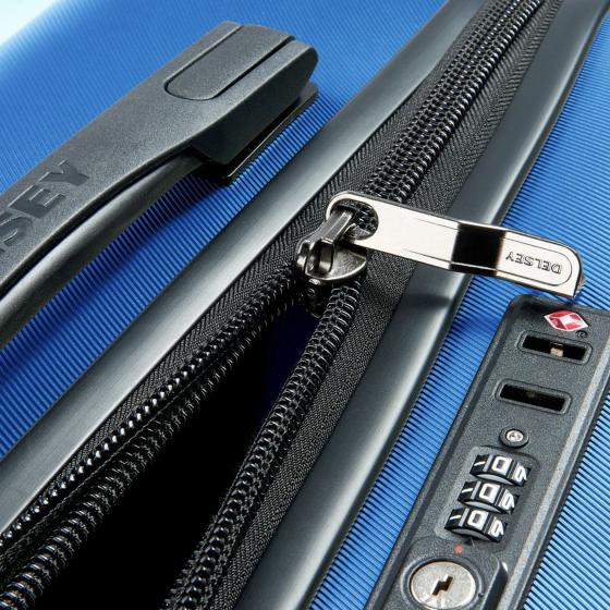 Comete 4-Rollen-Kabinentrolley Slim Line S 55 cm hellblau