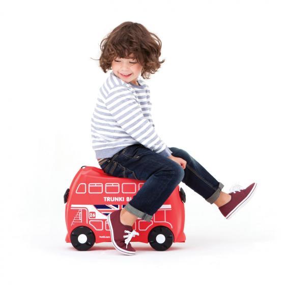 Ride-On Koffer befahrbarer Kindertrolley 46 cm Bus Boris