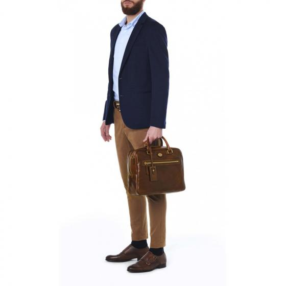 Story Uomo Aktentasche Leder 36 cm brown