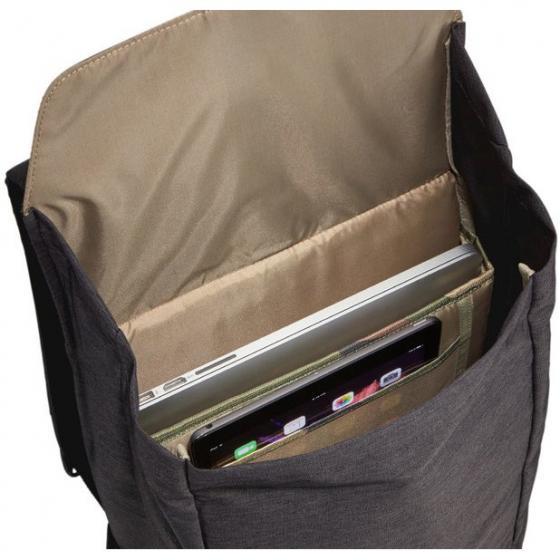 Lithos Rucksack mit Laptopfach 42 cm 16L black