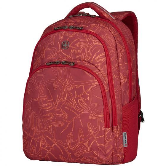 """606474 Upload Laptop-Rucksack 16"""" 28 L 47 cm red outline print"""