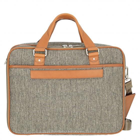 Tweed Belting Aktentasche mit Laptopfach L 43 cm natural tweed