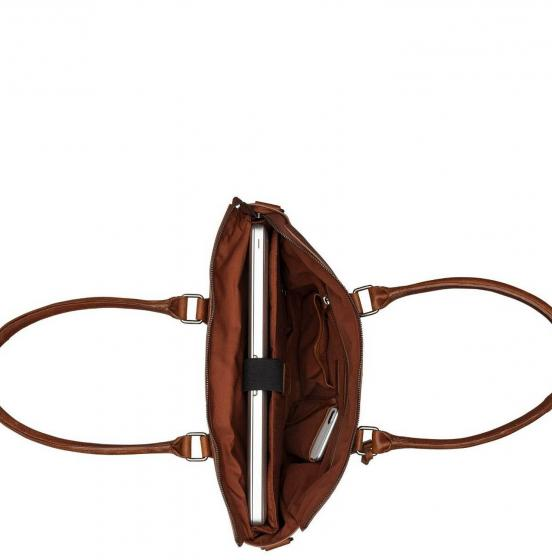 Antique Avery Laptoptasche / Schultertasche 15.6'' 40 cm cognac