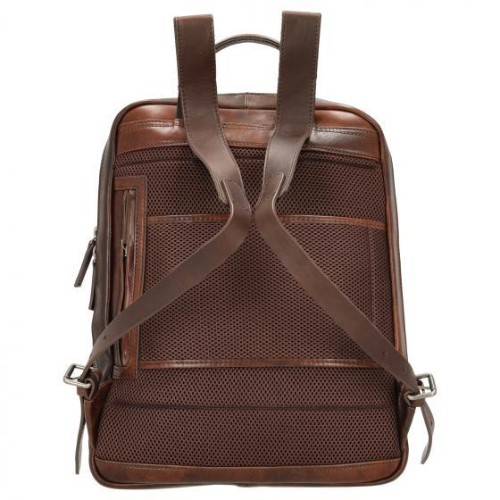 """Rucksack mit Laptopfach 15,6"""" 40 cm RFID cognac"""
