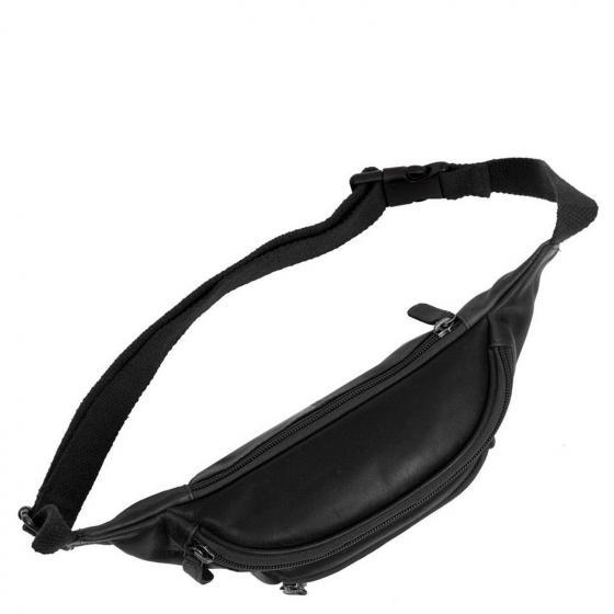 Jack Gürteltasche Leder 23 cm black