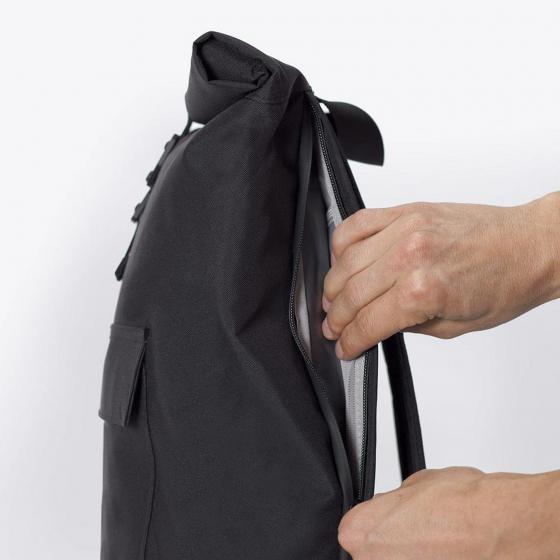 Jasper Stealth Rolltop Rucksack 16'' 45 cm black