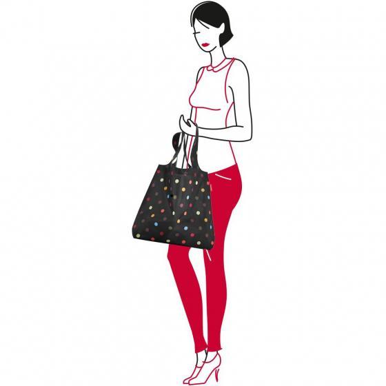 shopping mini maxi shopper / Einkaufsshopper faltbar 60 cm dots