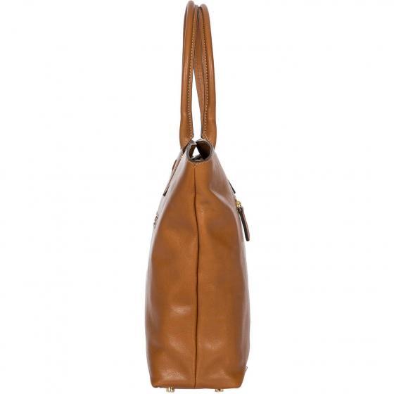 Life Pelle Handtasche 39 cm cognac