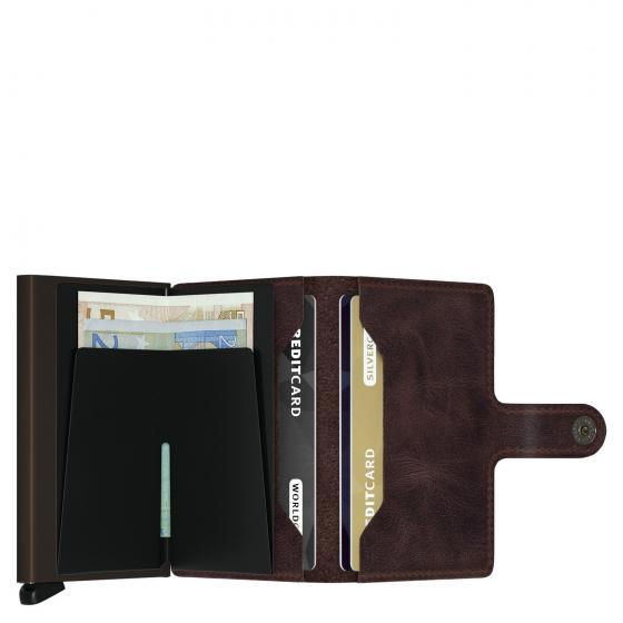 Vintage Miniwallet Geldbörse RFID 6.5 cm chocolate